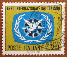 1967 ITALIA Emblema Anno Internazionale Del Turismo - Lire 20 Usato - 6. 1946-.. Repubblica