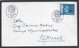 Carta Com Stamp E Obliteração Da Emissão Europa CEPT 1965. Letter With Stamp And Obliteration Of The Europa CEPT - 1910-... République