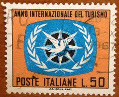 1967 ITALIA Emblema Anno Internazionale Del Turismo - Lire 50 Usato - 6. 1946-.. Repubblica