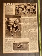1936 M RUGBY BIARRITZ STADE TOULOUSAIN FRANCAIS LYON MONTFERRAND COTE BASQUE CARCASSONNE - Vieux Papiers