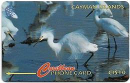 Cayman Isl. - Snowy Egret, 13CCIC, 1995, 25.000ex, Used - Cayman Islands