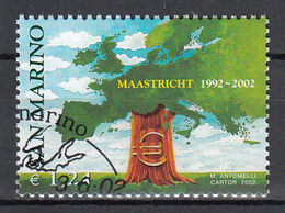 San Marino Mi 2022 Verdrag Van Maastricht 1992,2002  Gestempeld Fine Used - San Marino