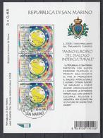 San Marino Blok Mi 39 Intercultureel Jaar 2008 Gestempeld  Fine Used Sheet - Blocs-feuillets