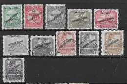 1921 USED Fiume, Mi 131-133, 135-142 - Occupation 1ère Guerre Mondiale