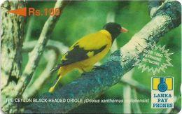 Sri Lanka - Lanka Pay Phones (GPT) - Black-Headed Oriole - 28SRLC (Letter B), 100Rs, Used - Sri Lanka (Ceilán)