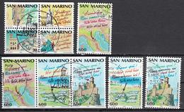 San Marino Mi 1435,1437 A,C 1447,1450 C Europa Toerisme Gestempeld  Fine Used - Saint-Marin