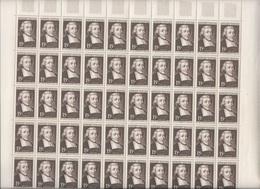 Feuille Complète De 50 Timbres Du N°882 Saint-Jean-Baptiste De La Salle. - Full Sheets