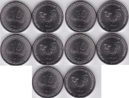 Timor - 5 Pcs X 10 Centavos 2011 UNC Lemberg-Zp - Timor