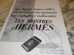 ANCIENNE  PUBLICITE MONTRES  HERMES   1931 - Jewels & Clocks