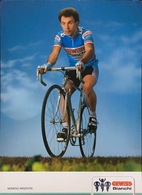 Postcard Moreno Argentin (large Card) - Gewiss-Bianchi - 1989 (16.7 X 24 Cm) - Ciclismo