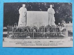 16 : MONTMOREAU : MONUMENT  ELEVE Aux ENFANTS Du CANTON 14/18 , CPA , En Bon état - Otros Municipios