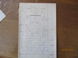 MONSIEUR BOUXIN-CRECHON A LA COMMUNE DE DAGNY-LAMBERCY AISNE TRAVAUX EXECUTES PAR ORDRE AU COURS DES ANNEES 1914 A 1917 - Documents Historiques