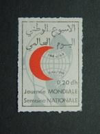 Vignette Croissant Rouge Marocain Journée Mondiale Semaine Nationale 1968 - Maroc (1956-...)