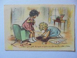 Cpa Carte Enfants Illustrateur Germaine Bouret Authentique - Bouret, Germaine