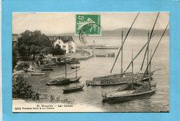 Saint  Gingolph- Bateaux Chargés De Buches  Au Lac Léman-a Voyagé En 1916-édition Charnaux - France