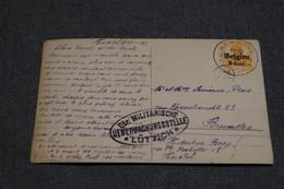 Très Bel Envoi Avec Oblitération Militaire Allemande,1917,oblitération De Herstal,belle Carte Courrier - Invasion