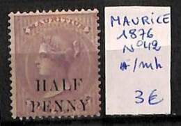 [814832]TB//*/Mh-Maurice 1876 - N° 42,  Personnages, Portraits, Célébrité - Maurice (...-1967)