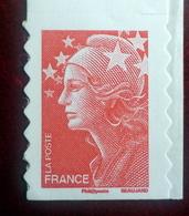 Adhesif N°220  Marianne De Beaujard Sans Numéro Au Dos - France