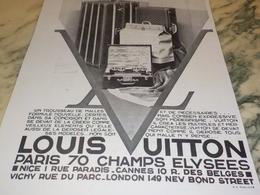 ANCIENNE PUBLICITE ADOPTEZ MALLE LOUIS VUITTON  1931 - Other