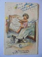 Cpa Carte Enfant Chien Illustrateur Germaine Bouret Authentique 1945 - Bouret, Germaine