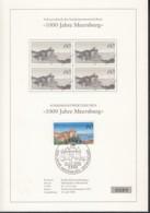 BRD  1376 Mit ESST Auf Sonderblatt Mit Schwarzdruck Im 4erBlock, 1000 Jahre Meersburg 1988 - Brieven