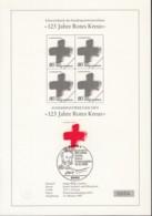 BRD  1387 Mit ESST Auf Sonderblatt Mit Schwarzdruck Im 4erBlock, Rotes Kreuz 1988 - Covers