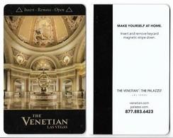 The Venetian Casino & Hotel, Las Vegas, Used Magnetic Hotel Room Key Card, # Venet-75 - Cartas De Hotels