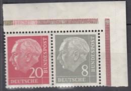 BRD  W 23 X, Postfrisch **, Heuss Und Ziffer 1958/60 - [7] République Fédérale
