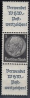 DR S 168, Postfrisch **, Hindenburg 1939 - Se-Tenant