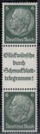 DR S 186, Postfrisch **, Hindenburg 1939 - Se-Tenant