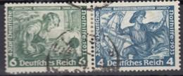 DR W 47, Gestempelt, Nothilfe Wagner 1933 - Se-Tenant