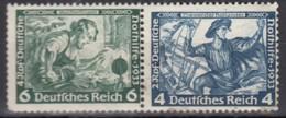 DR W 47, Postfrisch *, Nothilfe Wagner 1933 - Se-Tenant
