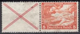 DR W 51, Postfrisch *, Nothilfe Wagner 1933 - Se-Tenant