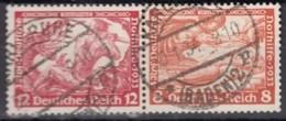 DR W 55, Gestempelt, Nothilfe Wagner 1933 - Se-Tenant