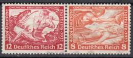 DR W 55, Postfrisch *, Nothilfe Wagner 1933 - Se-Tenant