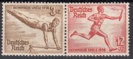 DR W 107, Postfrisch *, Olympische Spiele 1936 - Se-Tenant