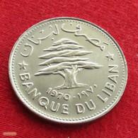Lebanon 50 Piastres 1970 KM# 28.1 *V2 Liban Libano Libanon - Lebanon