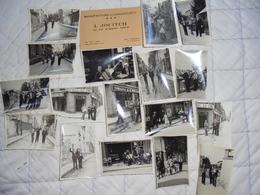 Lot Photos Années 1940 Belleville Paris XX Eme Musiciens Jazz Manouche Bistrot Café Arc En Ciel Henin Tabac Musique - Lieux