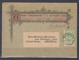 Brief Van Westmalle (sterstempel) Naar United States America - 1893-1907 Wapenschild