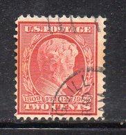 T1562 - STATI UNITI 1909, 2 Cent Unificato N. 231 Usato (M2200) - Used Stamps