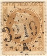 FRANCE Lot N° 067 Poste 28A (o) Napoléon III Empire Français 1867 [JOSS] (CV 20 €) - 1863-1870 Napoleon III With Laurels