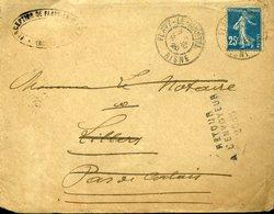 PAS DE CALAIS Griffe RETOUR A L'ENVOYEUR 2018 Lettre Adressée à Lillers Origine FLAVY LE MARTEL AISNE 1928 - Marcophilie (Lettres)
