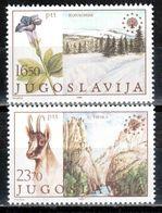 Yugoslavia 1983 MiNr. 2000 - 2001  Jugoslawien Europa Nature Conservation (III)  Gentian  Chamois  2v  MNH**  1.20 € - 1945-1992 Repubblica Socialista Federale Di Jugoslavia