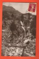 ZAB-37 Taesch Täsch Bei Zermatt, Les Gorges.  Cachet Frontal. Gelaufen 1930 Nach Paris - VS Valais