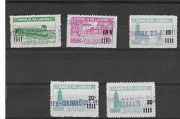 ALGERIE Colis Postaux N°162 à 166**(sauf 163A) Série Complète (5 Valeurs) Sans Charnière - Algérie (1924-1962)