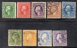 T1177 - STATI UNITI , Nove Valori Diversi Usati  (M2200) - Used Stamps
