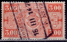 Belgium, 1924, Parcel Post/Railway, 3fr, Sc#Q160, Used - Parcel Post & Special Handling