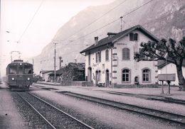 Schweizer Eisenbahnen, Rhätische Bahn, Bellinzona-Mesocco-Bahn, Train En Gare De Lostallo, Photo 1971 RhB 189.5 - Trenes
