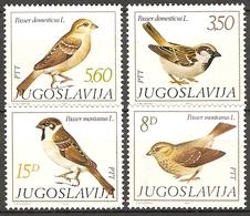 Yugoslavia 1982  MiNr. 1925 - 1928  Jugoslawien Birds Sparrows  4v  MNH**   4.50 € - Moineaux