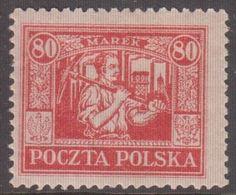 1923. Ostoberschlesien. Regular Issue 80 MAREK. Hinged. (Michel 17) - JF360696 - Silesia (Lower And Upper)